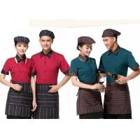 Cool Restaurant Staff Clothing Ribbed Cuff Splicing With Nice Shirt And Pants for sale
