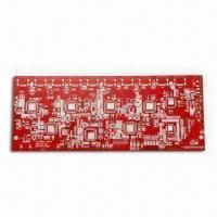 Wholesale Red PCB with 1.6mm Base Board Thickness and 0.25mm Minimum Hole Diameter from china suppliers
