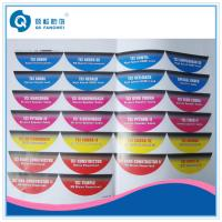 Buy cheap Glossy surface waterproof adhesive sticker ,  White vinyl label paper printing from wholesalers