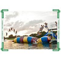 Wholesale 0.6mm PVC tarpaulin Inflatable Water Games Catapult Blob / Water Jumping Pillow from china suppliers