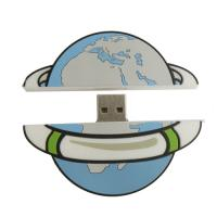 Wholesale Customized earth shape 512M, 2G PVC USB Flash Drive passed  RoHS certification (MY-UPVC01) from china suppliers