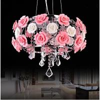Wholesale Red rose high-grade crystal pendant lamp graceful crystal chandelier lamp from china suppliers