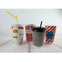 Wholesale Red / Black Personalized Insulated Paper Cups Custom Disposable Coffee Cups from china suppliers