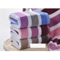 Quality Super Hygroscopicity / Stripe Design Terry Compact Sport Towel For Gym 35 * 75cm for sale