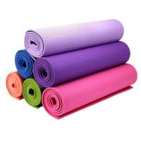 Wholesale Lightweight Washable TPE PVC Yoga Floor Mats , Natural Non-Toxic Yoga Mat from china suppliers