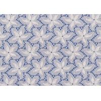 Wholesale Blue / White Floral French Lace Fabric By The Yard For Swimwear / Toy from china suppliers