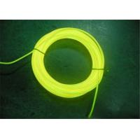 Wholesale Auto EL Lighting Electro Illumination Wire Yellow For Warning Signs / EL Wire Cable from china suppliers