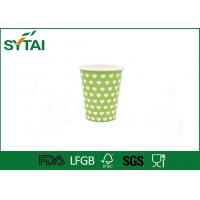 Wholesale Beverage Green Like Dotted Single Wall Paper Cups Disposable Love Printing from china suppliers