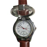Wholesale Magnifying Glass Unisex Leather Band Quartz Watch with Counterfeit Money Detector Light from china suppliers