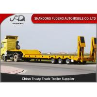 Wholesale Triple Axle 80 Ton Low Bed Semi Trailer With Hydraulic Ladder For Transport Heavy Machine from china suppliers