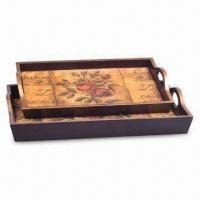 Wholesale Wooden Serving Tray, OEM Orders are Welcome, Available in Various Patterns and Colors from china suppliers