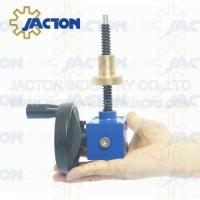 Wholesale Easy to use JTC5 5kn Small Worm Gear 100mm Traveling DC Mini Motorized Screw Jack from china suppliers