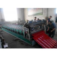 Wholesale High Speed 5.5KW Glazed Tile Roll Forming Machine , Roof Tile Making Machine from china suppliers