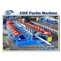 Wholesale Full - Automatic C Z Purlin Roll Forming Machine With 30KW Gear Box Driven from china suppliers