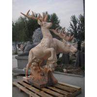 Wholesale Deer Animal stone sculpture for garden from china suppliers