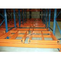 Wholesale Industrial Push Back Rack Galvanised Pallet Racking Single Pallet Per Level from china suppliers