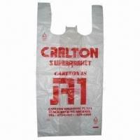 Wholesale T-shirt Shopping Bag, Made of LDPE/HDPE/LLDPE, Different Colors and Sizes are Available from china suppliers