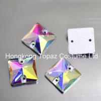 Wholesale Sew on Glass Stone Crystal ab Stone Crystal Beads Square 10mm-22mm from china suppliers