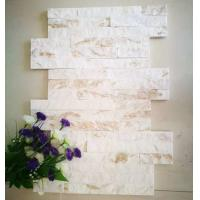 Wholesale Cream Quartzite Thin Stone Veneer,Ivory Quartzite Culture Stone,18x35 S cut Stone Cladding,Stacked Stone from china suppliers