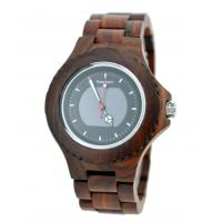 Wholesale Solar Movement Red Sandawood Wooden Band Watch Fashion Mens Watch from china suppliers