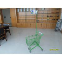 Wholesale Green powder coating 33 Liter of  Metal Kids Shopping Carts With Flag from china suppliers