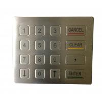 Weather proof oil proof USB metal keypad with flat design for vandal proof phone for sale