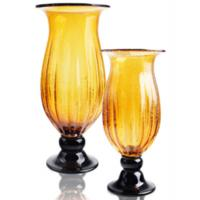 Wholesale Decorative Amber Art Glass Vase With Modern Innovative Design For Home Decor from china suppliers