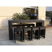 Wholesale Resin Wicker Bar Set With Power Coated Aluminum Or Steel Frame from china suppliers