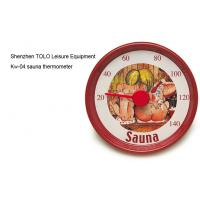 Wholesale Cartoon round metal thermometer red 13cm diameter for sauna room from china suppliers