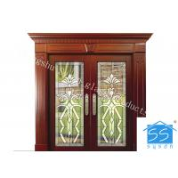 Wholesale Curve / Flat Art Glass Panels Patina Brass Black Chrome Red Copper Optional from china suppliers