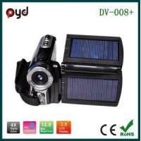 Quality 2.8inch Solar Digital Video Camera Max 12MP (DV-008+) for sale