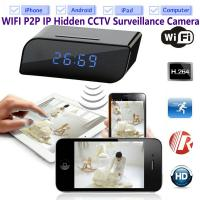 Wholesale T8S 720P Alarm Clock WIFI P2P IP Spy Hidden Camera Home Security CCTV Surveillance DVR with Android/iOS App Control from china suppliers