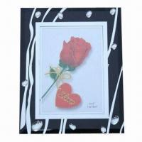 Wholesale Glass Photo Frame with Diamonds Decoration, Different Styles and Colors are Available from china suppliers