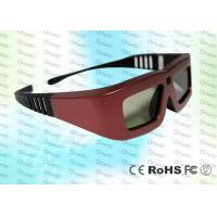 Wholesale Cinema IR Active shutter adult 3D glasses GT100, red iron color from china suppliers