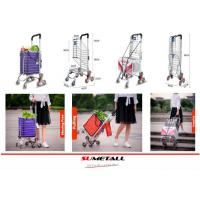 Wholesale Aluminum folding shopping cart with stair climbing wheels for personal in supermarket, grocery store and farmer markets from china suppliers