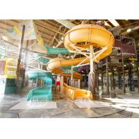 Wholesale Indoor Fiber Glass Water Slides , Spiral Open Water Slide For Kid from china suppliers