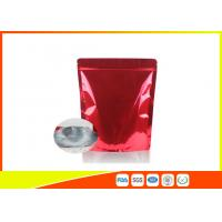 Wholesale Customized Red Tea Packaging Bags With Zipper / Coffee Bean Pouches from china suppliers