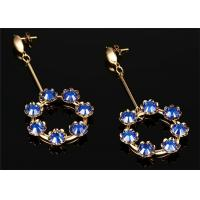 Wholesale CZ Pave seven Crystal Ball Drop Earrings With 316L Stainless Steel Material from china suppliers