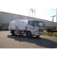Wholesale Kitchen Waste Collection Truck 6cbm , Sealed Discharge / Pushing Discharge from china suppliers