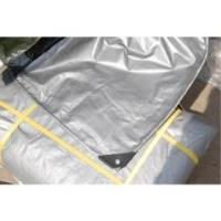 Buy cheap silver color pe tarpaulin poly tarp, reinforced 200g/sqm poly tarp cover from wholesalers