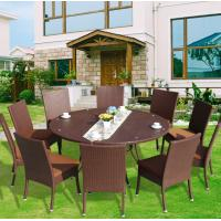 Wholesale Villa Hotel Outdoor Friends Gathering Sofa With Ottoman Footrest And Metal Top Table Well Used Patio Furniture from china suppliers