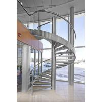 Wholesale 304 Stainless Steel Spiral Staircase with Glass Railing for Outdoor from china suppliers