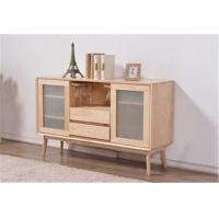 Wholesale Simple Dining Room Storage Cabinet , Frosted Glass Door Storage Cabinet 600H from china suppliers