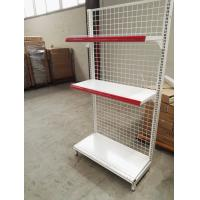 Quality Supermarket Convenience Store Wire Mesh Shelves , White Wire Shelving Units for sale