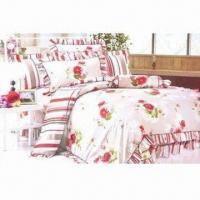 Wholesale 4 Pieces Bedding Set with Jacquard Printing, Customized Designs and Sizes are Accepted from china suppliers