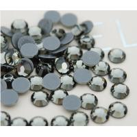 Wholesale black diamond color loose rhinestones hot fix from china suppliers