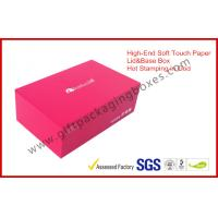 Wholesale Soft Touch Paper Luxury Gift Boxes Lid And Base With Foil In Gold EVA Insert from china suppliers