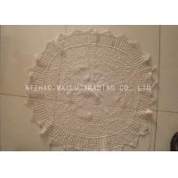 Wholesale Multigrids Crochet Doilies Cotton Crochet Round Tablecloths With Scallop Edge from china suppliers