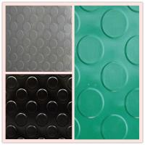 China 3mm coin pattern PVC car flooring mat on sale