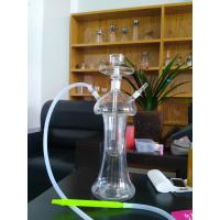 Quality Red Glass hookah pipe shisha pipe High-quality hand blown water pipes with LED for sale